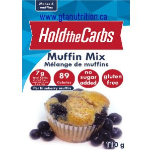 Hold The Carbs Low Carb Muffin Mix small bag 110g | Low Carb Muffin Mix, Gluten Free Muffin Mix, Vegan Muffin Mix - with Stevia To make Low Carb Muffins, Gluten Free Muffins