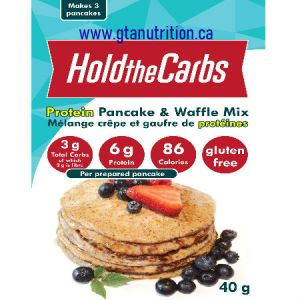 Hold The Carbs Low Carb Protein Pancake & Waffle Mix small bag 40g | Low Carb, Gluten Free, Vegan, with Stevia.