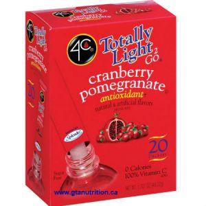 4C Totally Light 2 Go Cranberry Pomegranate Drink Mix Stix 20 pk. Zero Calories, Zero Carbs, Sugar Free, Low Sodium