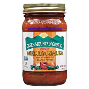 Green Mountain Gringo Medium Salsa 454g. All Natural, Low Carb, Low Calories, Gluten Free, Fat Free, Low Sodium, Vegetarian, Kosher