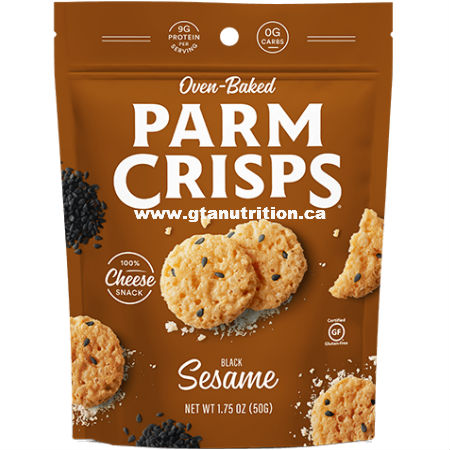 Kitchen Table Bakers Oven Baked ParmCrisps Sesame 49g. Made From 100% Cheese. No Artificial Flavors, Colors or Preservatives.