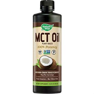 Nature's Way MCT Oil Plant Based 100% Potency 480ml. Weight Management, Supports a Healthy Body Composition, Made From Premium Coconut Only. Best for Keto Bulletproof Coffee, Shakes, Beverages, Foods, Salads and more