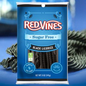 American Licorice Company Red Vines Sugar Free Black Licorice Twists 5oz . Live on the sweet side with Red Vines !