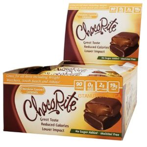 HealthSmart Foods ChocoRite Chocolate Covered Caramels 36g. 90 Calories, 2 net carbs per package! Great for all diets including Keto, Weight Watchers, South Beach, Atkins and Dr. Poon Diet! No Sugar Added, Maltitol Free, High Fiber, Kosher.