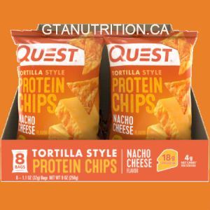 Quest Protein Nacho Cheese Tortilla Style Chips. Baked Never Fried, Soy Free, Gluten Free Quest Nutrition is on a mission to make the foods you crave work for you not against you.