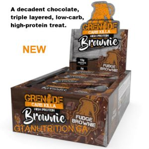 Grenade Carb Killa High Protein Fudge Brownie New Triple Layered Bars. Low Carb, GMO FREE, Sustainable Palm oil, Low Sugar, Informed-Sport Approved