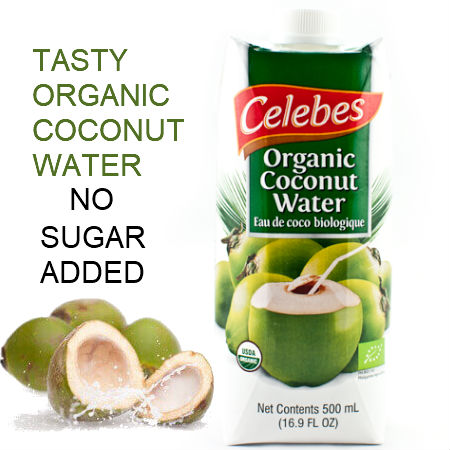 Celebes Organic Coconut Water 500ml. Certified Organic Kosher