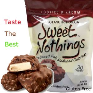 Sweet Nothings Cookies N Cream 84g | 30 Calories per one piece, 1g Fat Each! Only 30 calories and 3 net carbs per serving size! Great for all diets including Keto, Weight Watchers (1 SmartPoint per piece), South Beach, Atkins and Dr. Poon Diet! - Gluten Free, Kosher