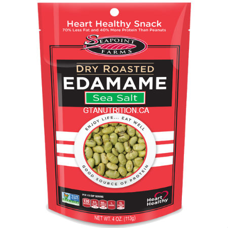 Seapoint Farms Dry Roasted Edamame Sea Salt 4 oz . High Protein, Low carb, High Fiber, Low Salt, Kosher