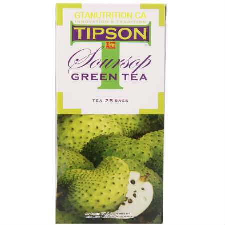 Tipson Soursop Green Tea 25 Tea Bags. Herbal Tea