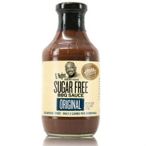 G Hughes Sugar Free BBQ Sauce Original 510g. Sugar free, Gluten-free.