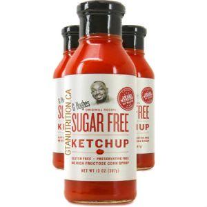 G Hughes Sugar Free Sauce Ketchup 367g. Sugar free, Gluten-free.