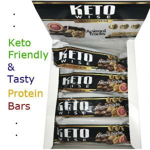 HealthSmart Foods Keto Wise Animal Tracks Protein Bar 64 - Introducing Keto Wise Uncoated High Protein Bars. These large 64g protein bars deliver a very clean, delicious taste with only the highest quality Whey Protein and Milk Proteins! These bars also contain only zero glycemic sweeteners that won't raise your blood sugar or stall weight loss. Further, at only 190 calories, they deliver 18g protein. Whether you need blood sugar control or weight loss, KetoWise new exclusive sugar-free snacks keeps your blood sugar low and your cravings satisfied. Kosher.