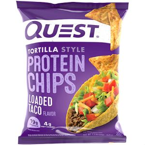 Quest Protein Loaded Taco Tortilla Style Chips. Baked Never Fried, Soy Free, Gluten Free | Quest Nutrition is on a mission to make the foods you crave work for you not against you.