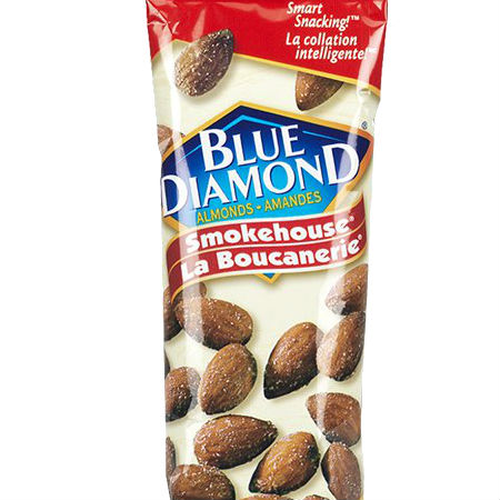 Blue Diamond Smart Snacking Smokehouse 43g. Satisfy your cravings and energize your day with the delicious goodness of almonds. A fresh, crunchy snack that