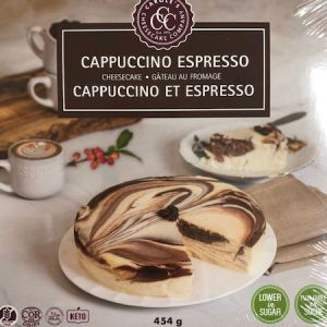 Carole's Cheesecake Cappuccino 1LB l Gluten Free All Natural and Low Carb. Carole's cheesecakes are well known for their delicious taste.