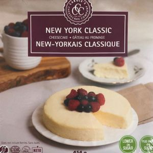 Carole's Cheesecake New York Classic 1LB l Gluten Free All Natural and Low Carb. Carole's cheesecakes are well known for their delicious taste.