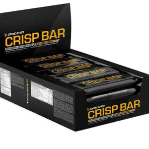 Dedicated Crisp High Protein Bar - Chocolate Caramel. Soft creamy inner texture and a surprisingly crunchy outside. 20 grams of protein per bar...