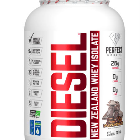 Diesel New Zealand Whey Isolate Protein Triple Rich Dark Chocolate Lactose free, NON GMO, No MSG, Gluten free with natural ingredients