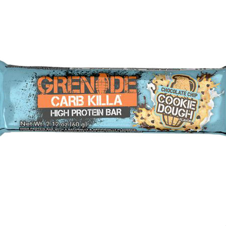 Grenade Carb Killa High Protein bar Cookie Dough l Trusted by sport, 20g protein, low carb, Made in UK, Trans fat free....