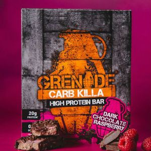 Grenade Carb Killa High Protein bar Dark chocolate Raspberry Trusted by sport, 22g protein, low carb, Made in UK, Trans fat free...