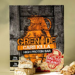 Grenade Carb Killa High Protein bar Salted Peanut l Trusted by sport, 21g protein, low carb, Made in UK, Trans fat free...