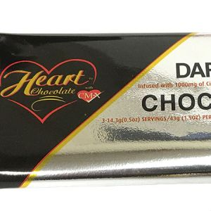 Heart Dark Chocolate with CMX 43g l CMX helps support healthy blood glucose level. No sugar added, sweetened with maltitol, Gluten free, Very low in sodium.
