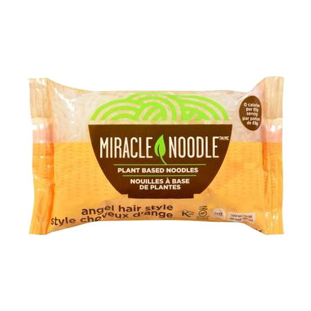 Miracle Noodle Anglehair 200g . Guilt Free Noodle, Low Calories & Carb, Low Sodium, Cholesterol Free, Soy Free, Gluten Free, Vegan, NON GMO, Kosher