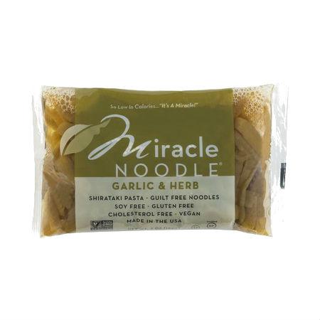 Miracle Noodle Garlic & Herb 200g Guilt Free Noodle, Low Calories & Carb, Low Sodium, Cholesterol Free, Soy Free, Gluten Free, Vegan, NON GMO, Kosher