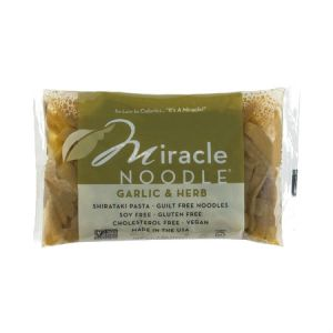 Miracle Noodle Garlic & Herb 200g Guilt Free Noodle, Low Calories & Carb, Low Sodium, Cholesterol Free, Soy Free, Gluten Free, Vegan, NON GMO, Kosher