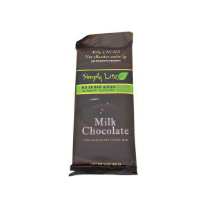 Simply Lite Milk Chocolate 36% Cacao 85g l No sugar added, sweetened with maltitol, Gluten free, Very low in sodium......