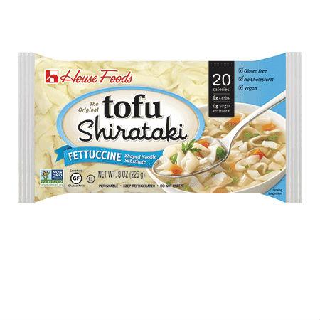 Tofu Shirataki Noodle Fettuccine 226g Low Calories & Carb, High Fiber, Low Sodium, Cholesterol Free, Fat Free.
