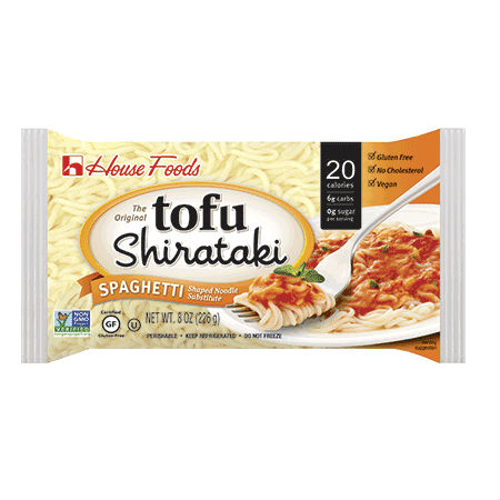 Tofu Shirataki Noodle Spaghetti 226g. Low Calories & Carb, High Fiber, Low Sodium, Cholesterol Free, Fat Free.
