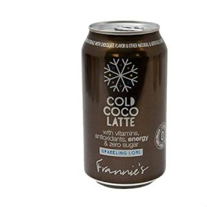 Frannie's Sparkling Cold Coco latte Beverage Calorie and Sugar free 355ml