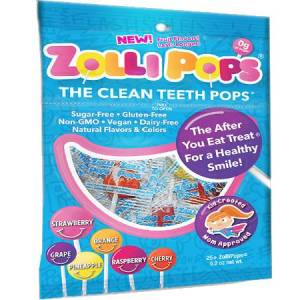 Sugar Free Zolli Pops Variety Pack 52oz. Non Artificial Sweetener, No Sugar Added, Wheat Free, Gluten Free, EggFree, Nutfree, Vegan, Diabetes friendly..