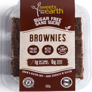 Sweets From The Earth Sugar Free Brownies 132g. Keto friendly, low carb, High protein, gluten free, Non GMO, Paleo friendly...