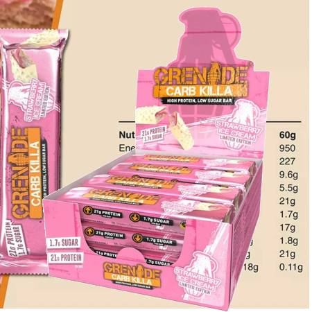 Grenade Carb Killa High Protein Bar Strawberry Ice Cream