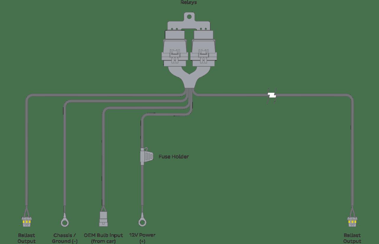 Morimoto 9005 9006 9012 Headlight Relay Wire Harness Schematic