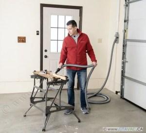 Vacuuming With Vroom Retract Vac Work Bench Garage