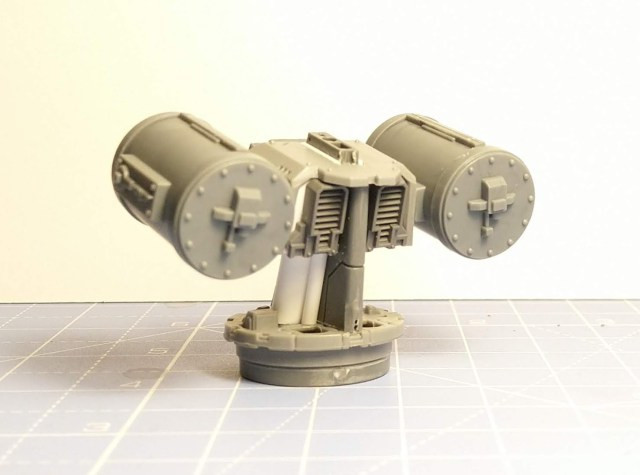 Space Marine Whirlwind turret rear