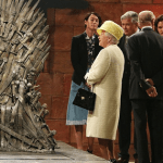 Queen of England Visits Game Of Thrones Set