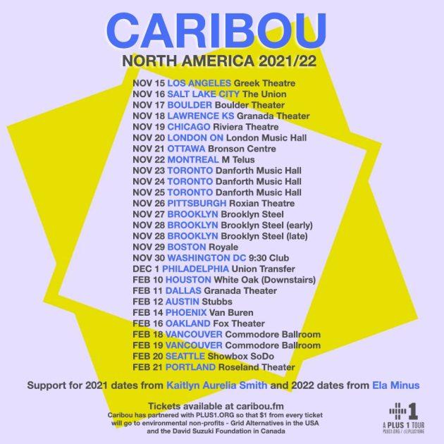 Caribou 2021 Tour dates