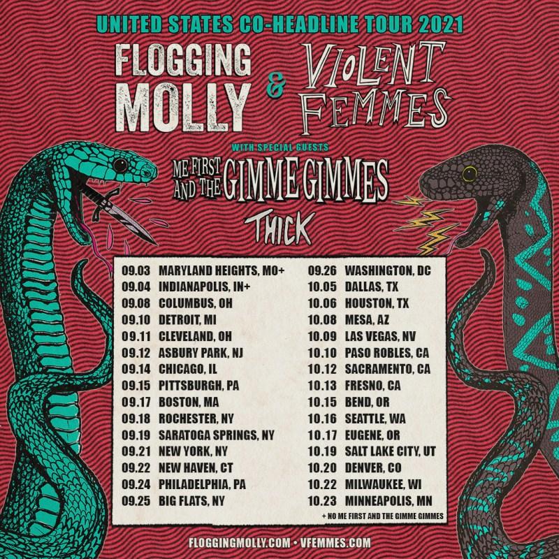 Flogging Molly Violent Femmes Tour 2021