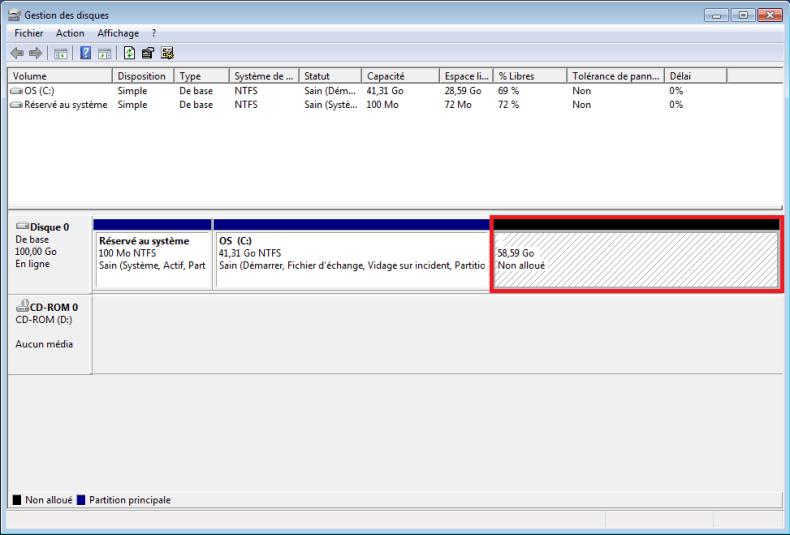partitions disque dur