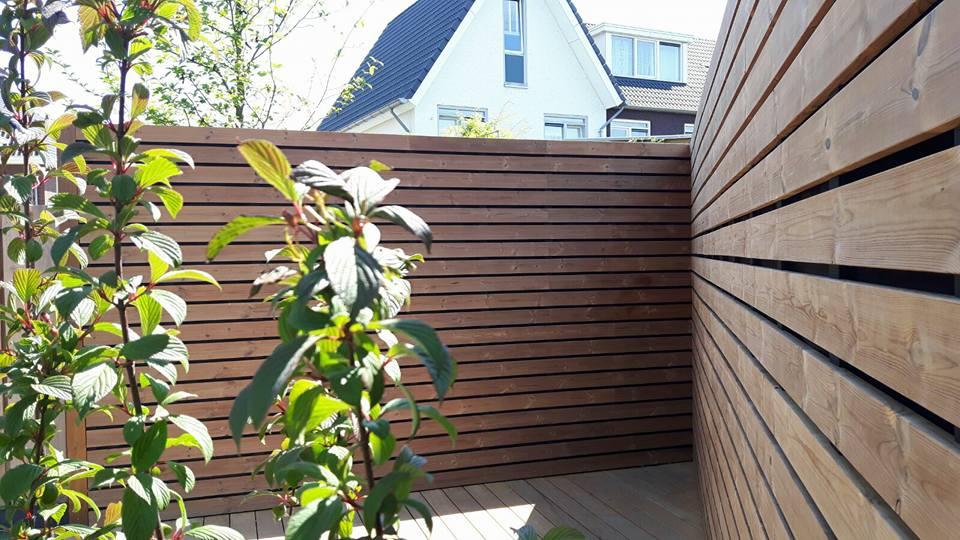 Tuinwand met behulp van het Techniclic®-systeem