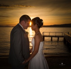 Lake Taupo Sunset Wedding