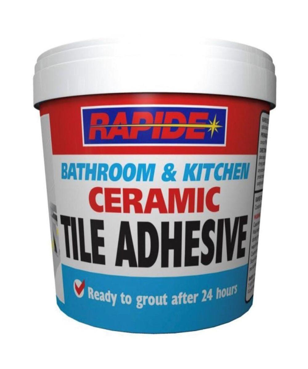 rapide bathroom kitchen ceramic tile adhesive 1kg