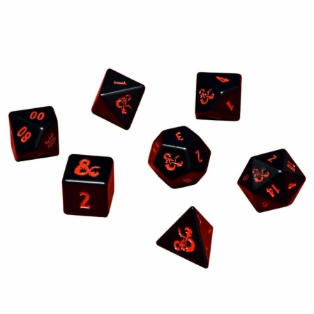 ULTRA PRO: DUNGEONS AND DRAGONS DICE - 7CT HEAVY METAL POLY SET