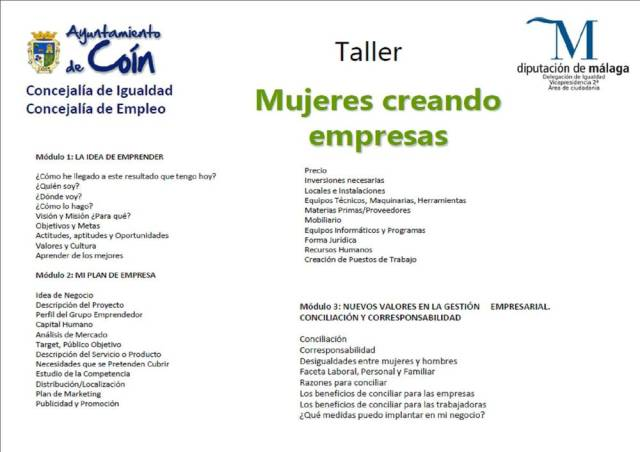 Curso, Mujeres Creando Empresas