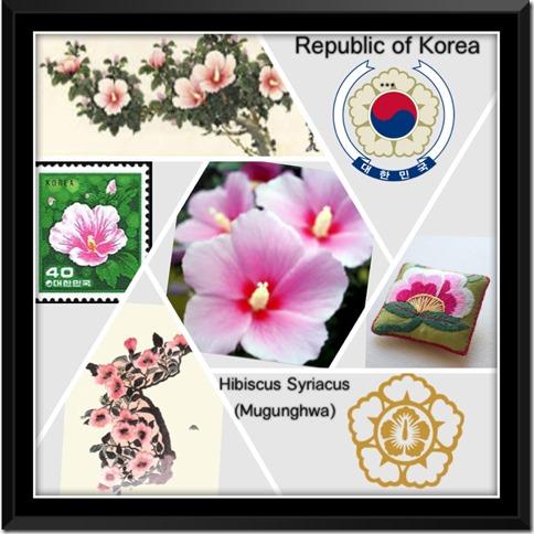 National Flower Series–East Asia 4–Republic of Korea (South Korea)–Hibiscus Syriacus